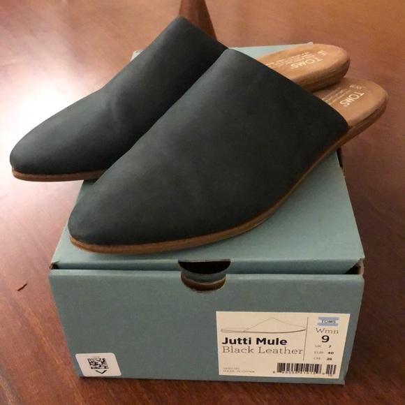 Toms Shoes | Toms Jutti Mule Black